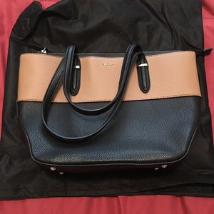 Nine West Brown/Black Leather Purse